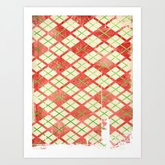 Vintage Wrapping Paper Art Print