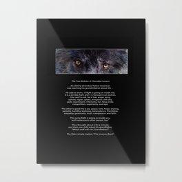 TWO WOLVES CHEROKEE  Native American Tale Metal Print