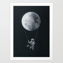 A Big Balloon Art Print
