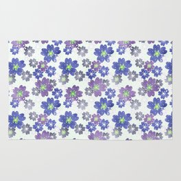 Floral blue and white pattern . Rug