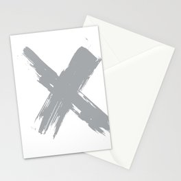 cross gray #2 Stationery Cards
