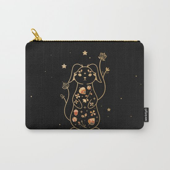 The Autumn Rabbit Carry-All Pouch
