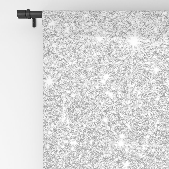 Modern faux grey silver glitter ombre white marble Blackout Curtain
