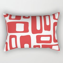 Retro Mid Century Modern Abstract Pattern 336 Red Rectangular Pillow
