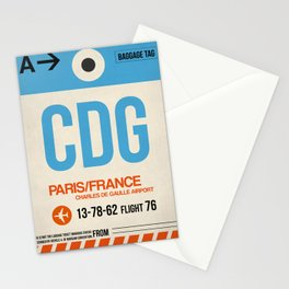 CDG Paris Luggage Tag 2 Stationery Cards