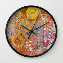 Summer Gold Wall Clock