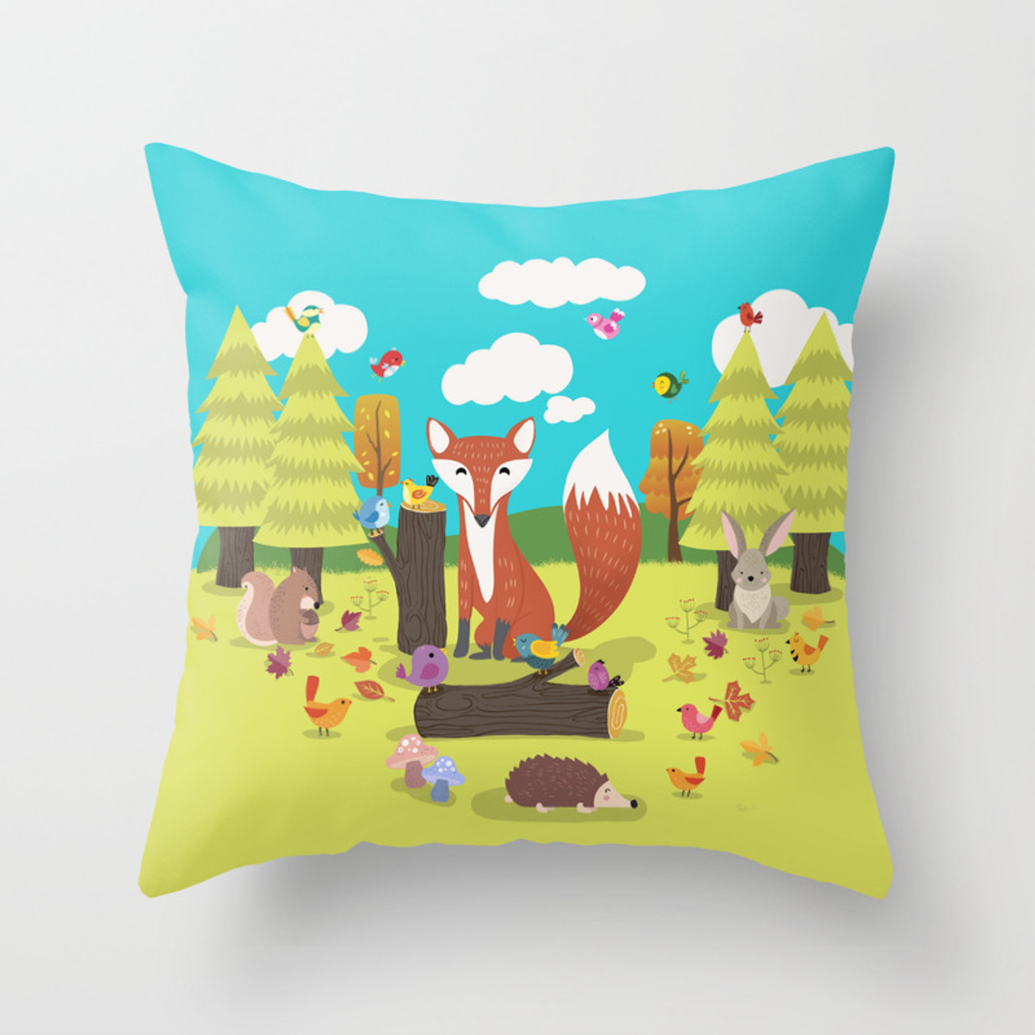 Forest Friends Fall Frolic Throw Pillow By Sunnybunny Society6
