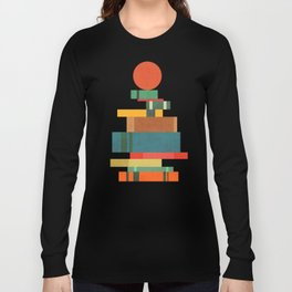 Book stack with a ball Long Sleeve T-shirt