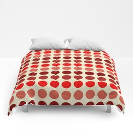 Shades Of Red Polka Dots-Textured Comforters