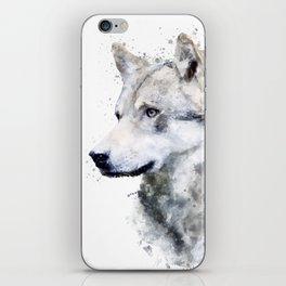Watercolor wolf iPhone Skin