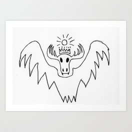 King Batmoose Art Print