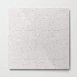 Abstract light grey texture Metal Print