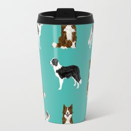 Border Collie mixed coats dog breed pattern gifts collies dog lover Travel Mug