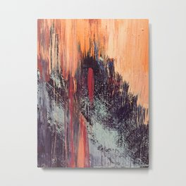 Night and Day: pretty abstract piece in orange, purple, and blues Metal Print