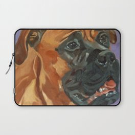 Finnly the Bull Mastiff Dog Portrait Laptop Sleeve