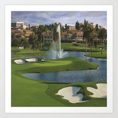 GOLF COURSE Art Print