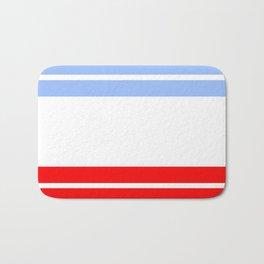 TEAM COLORS 9...Red,light blue, white Bath Mat