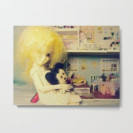 playing in the dollhouse Metal Print