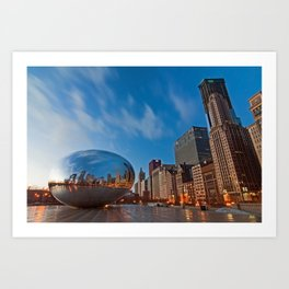 Chicago's Bean at Sunrise Art Print