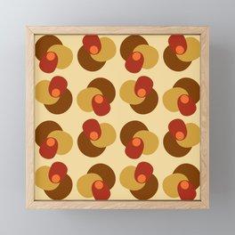 Four Shape Pile Up Red Orange Framed Mini Art Print