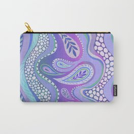 Patterned Purple Paisley Carry-All Pouch