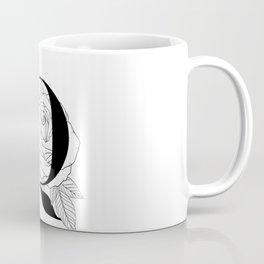 Monogram Letter O with Rose Line Art  Coffee Mug