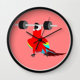 Heavy weight parrot Wall Clock