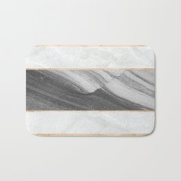 Marble Abstract Wave Bath Mat
