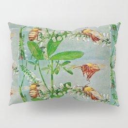 Vintage illustration bees Pillow Sham