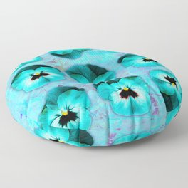 9 turquoise on light blue and violet Floor Pillow