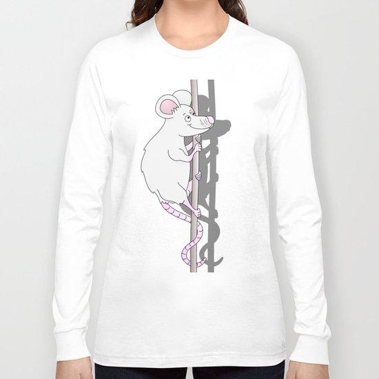 Cute Grey Cartoon Mouse Long Sleeve T-shirt