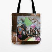 graffiti Tote Bags featuring graffiti by gasponce