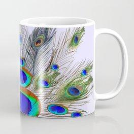 GREEN PEACOCK FEATHER & JEWELS #2 Coffee Mug