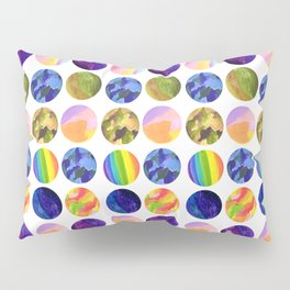 Hand painted neon colors watercolor moon planet Pillow Sham