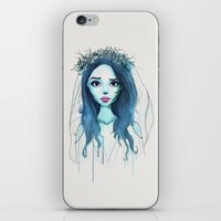 emily rickard iPhone & iPod Skins featuring Emily by André Luiz Barbosa