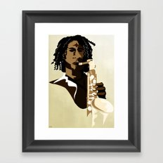 Sax Me Up Framed Art Print