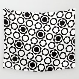 Geometric Pattern 159 (hexagons) Wall Tapestry