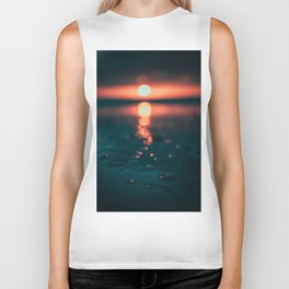 Sunset on Water (Color) Biker Tank