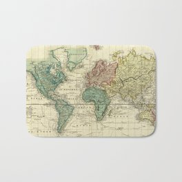 Vintage Map of The World (1823) Bath Mat
