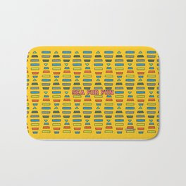 Sea for fun (yellow) Bath Mat