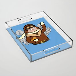 When I grow up I want to be a pilot! Acrylic Tray