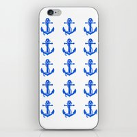 anchors iPhone & iPod Skins featuring Anchors by Chilligraphy