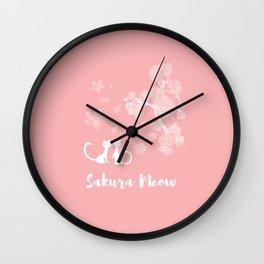 Sakura Cats Wall Clock