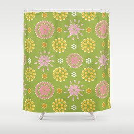 Lime Deco Shower Curtain