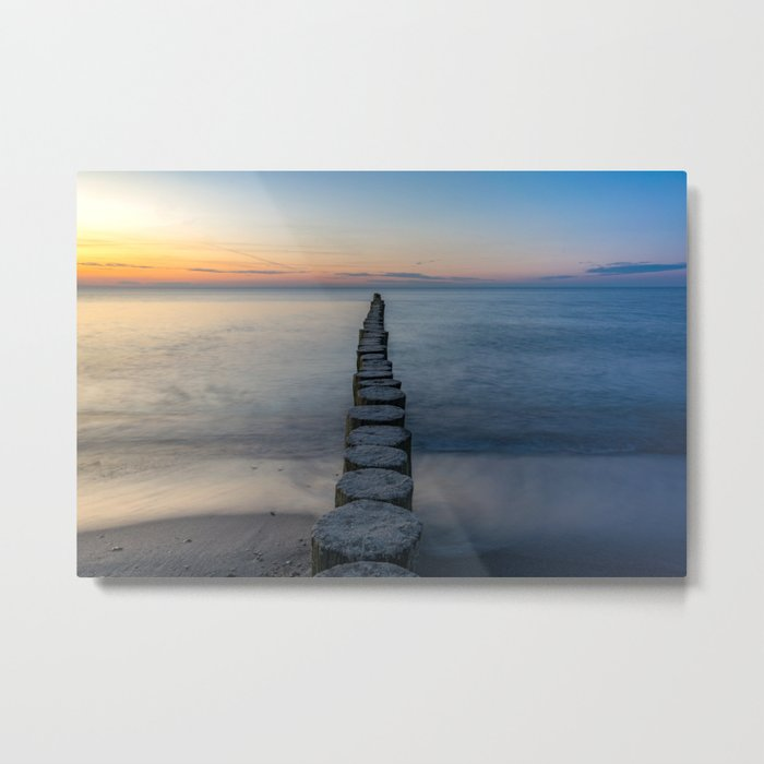 Path Through the Water to the Sunset Metal Print