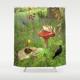 Woodland gazette Shower Curtain