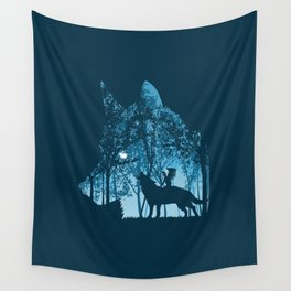 Indian Wolf Wall Tapestry