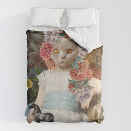 Collage Art Cat - Decameron Comforters