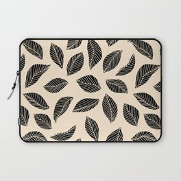 Falling Leaves in black and ivory Laptop Sleeve