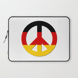 Black Red Yellow German Flag CND Peace Symbol Laptop Sleeve